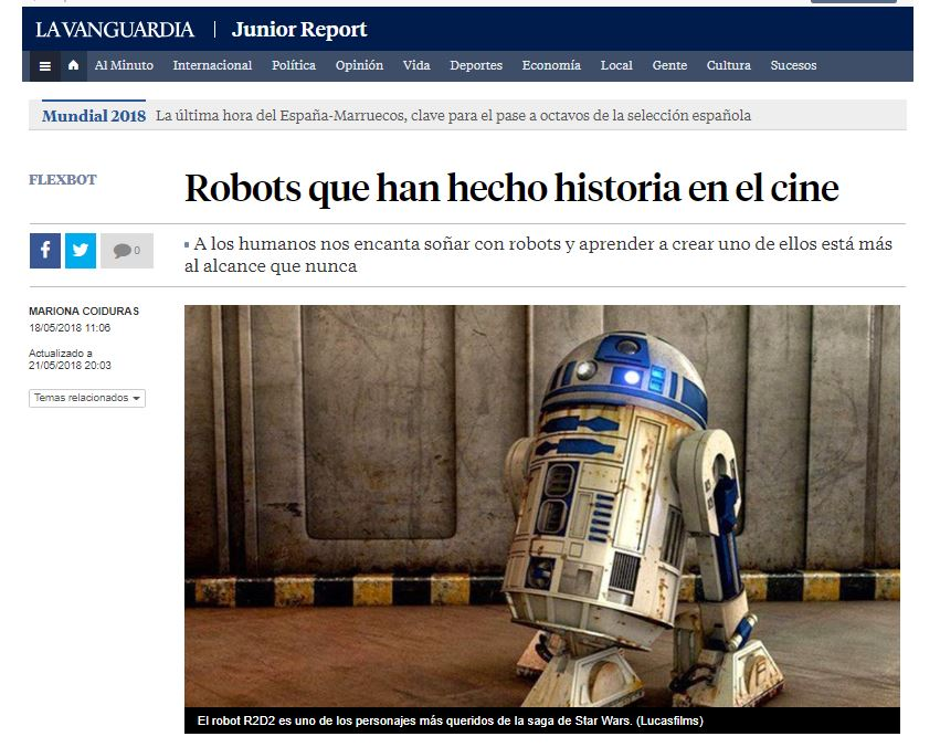 Junior Report Robots de películas