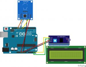 Esquema circuito tarjeta RFID