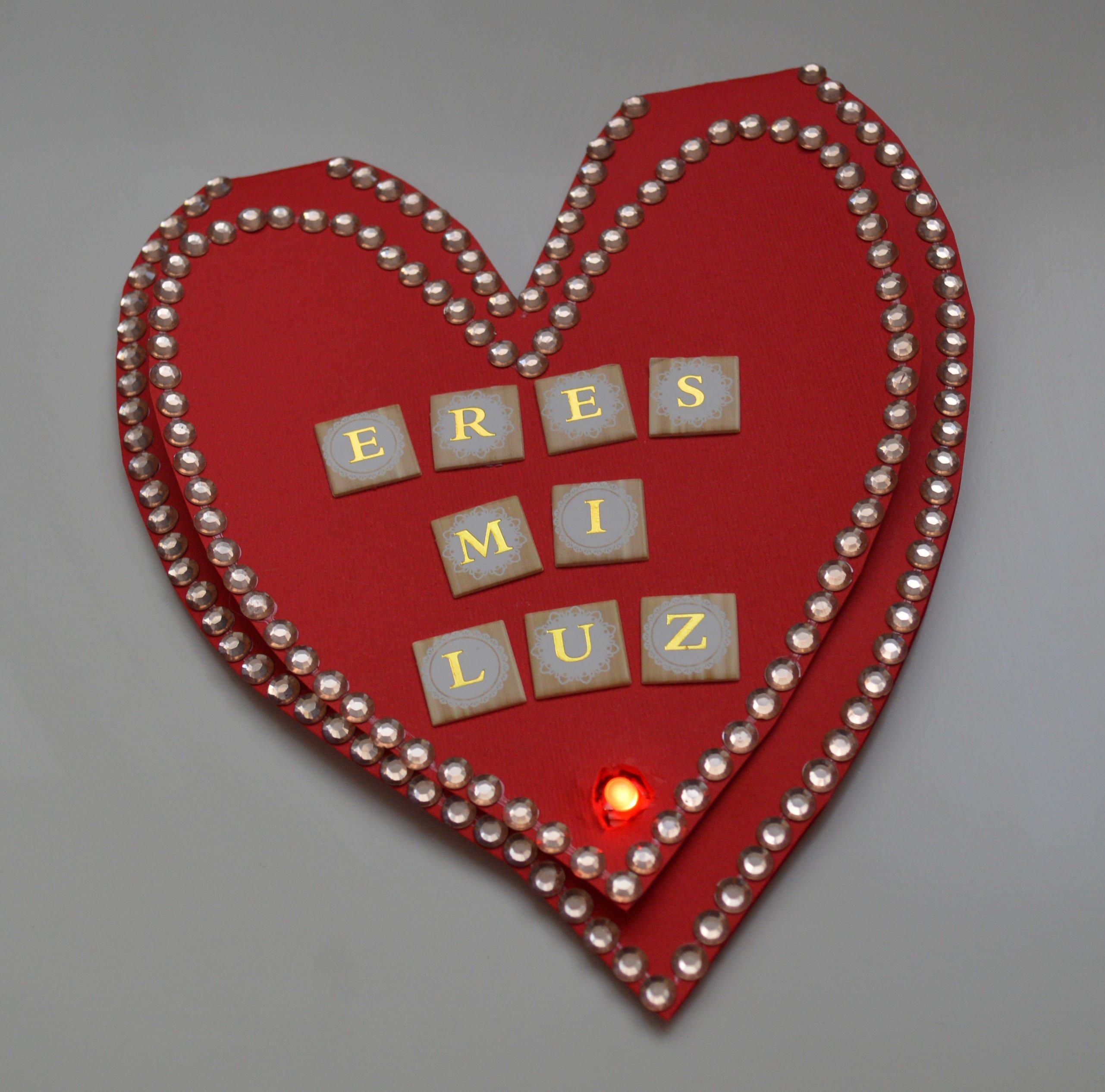 Tarjeta de San Valentín terminada
